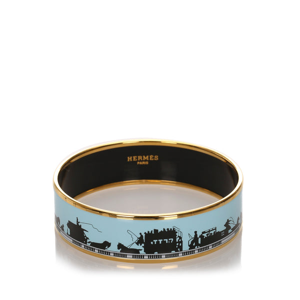 Blue Hermes Enamel Bangle