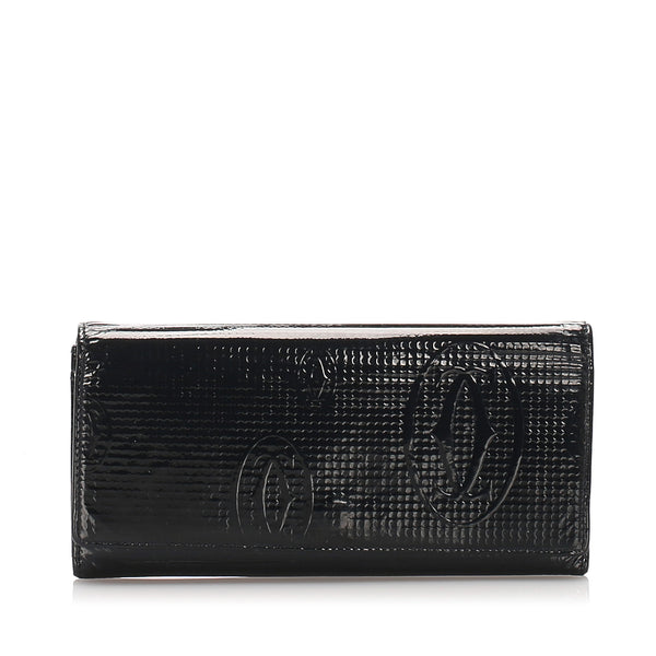 Black Cartier Happy Birthday Wallet