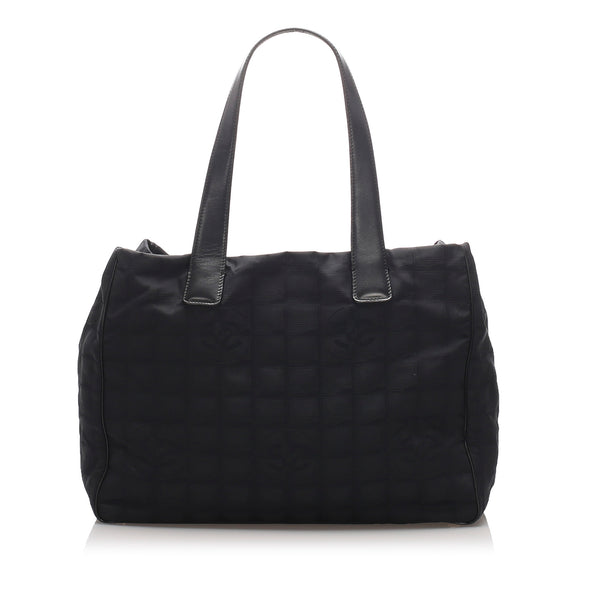 Black Chanel New Travel Line Tote Bag