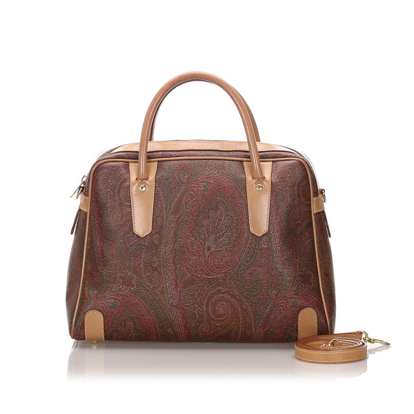 Brown Etro Paisley Satchel Bag