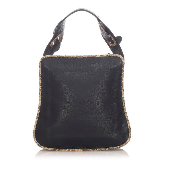 Black Fendi Leather Shoulder Bag