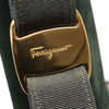 Green Ferragamo Vara Suede Handbag Bag