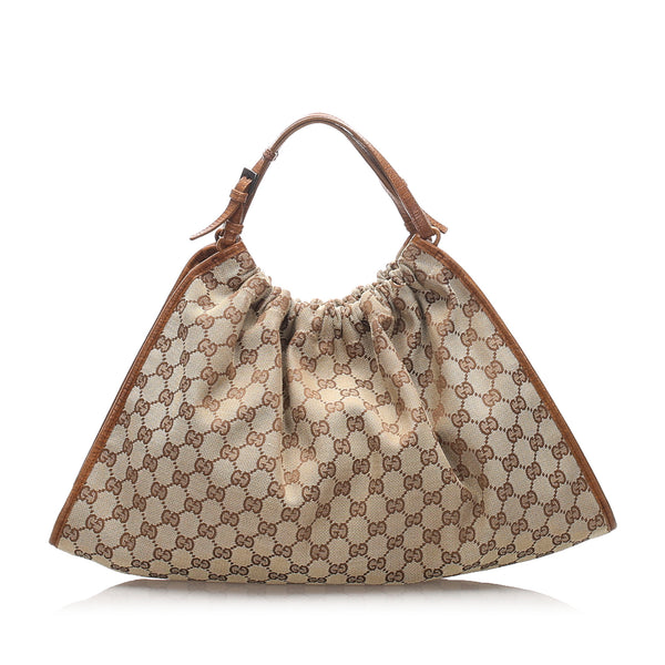 Brown Gucci GG Canvas Handbag Bag