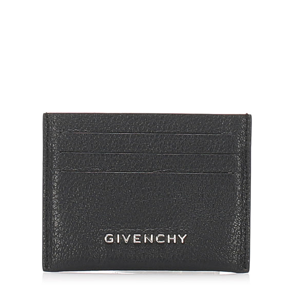 Black Givenchy Leather Card Holder