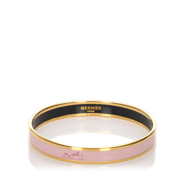 Pink Hermes Enamel Bangle