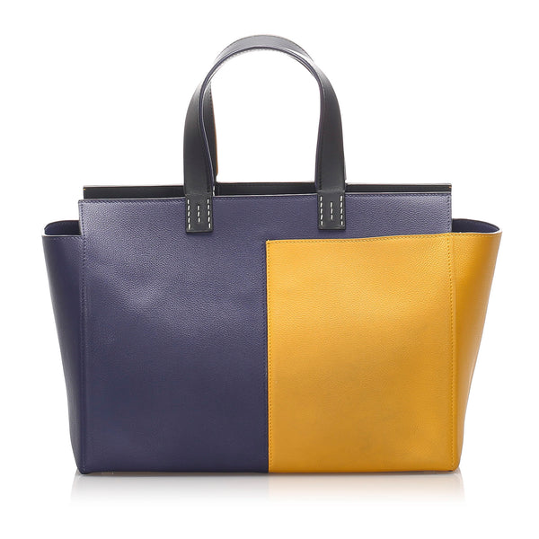 Yellow Hermes Leather Handbag Bag