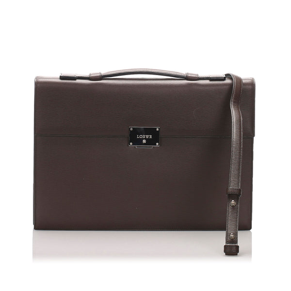 Brown Loewe Leather Business Bag