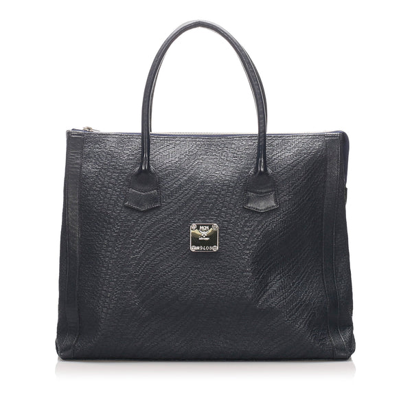 Black MCM Leather Tote Bag