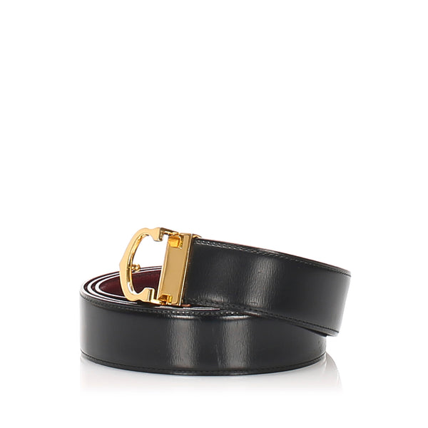 Black Cartier Must de Cartier Belt