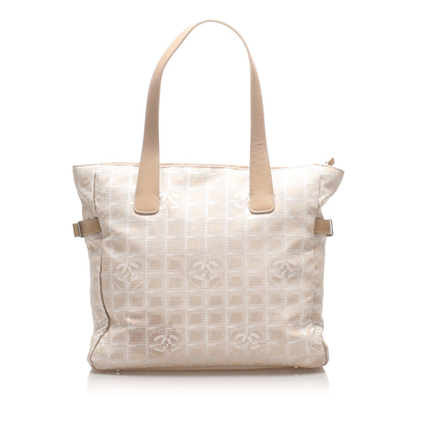 White Chanel New Travel Line Tote Bag