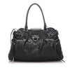 Black Ferragamo Gancini Leather Shoulder Bag