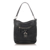 Black Prada Vitello Daino Leather Shoulder Bag