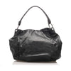 Black Prada Gathered Leather Shoulder Bag