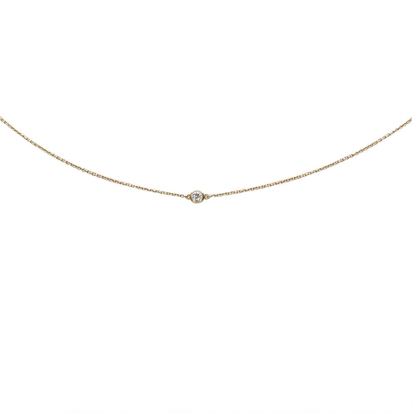 Gold Tiffany 18K Diamonds by the Yard Necklace