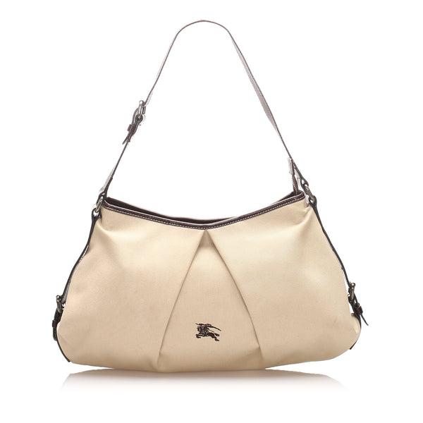 Beige Burberry Canvas Tote Bag