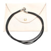 Brown Bvlgari Leather Choker Necklace