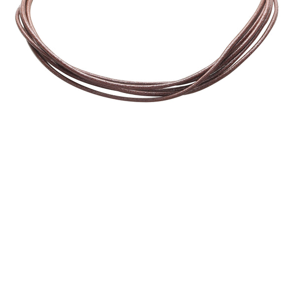 Brown Bvlgari Leather Choker