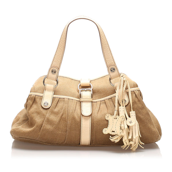 Brown Celine Canvas Tote Bag