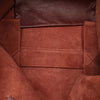 Red Celine Horizontal Cabas Leather Tote Bag