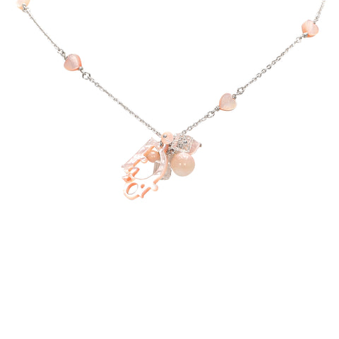 Pink Dior Coral Shell Necklace
