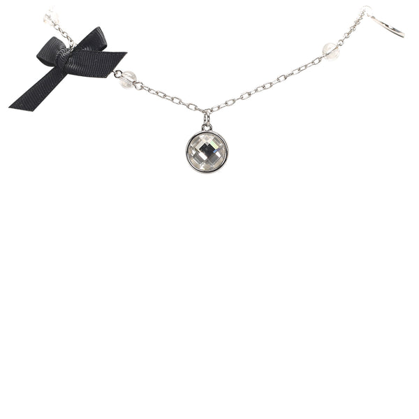 Silver Dior Silver-Tone Charms Necklace