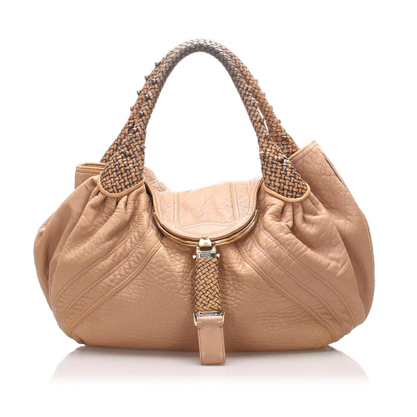 Brown Fendi Spy Leather Handbag Bag