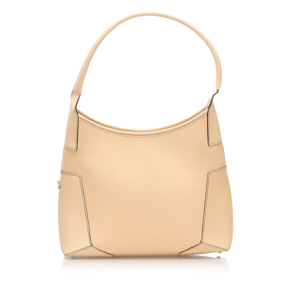 Beige Ferragamo Leather Shoulder Bag