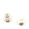 Silver Hermes Clou De Selle Earrings