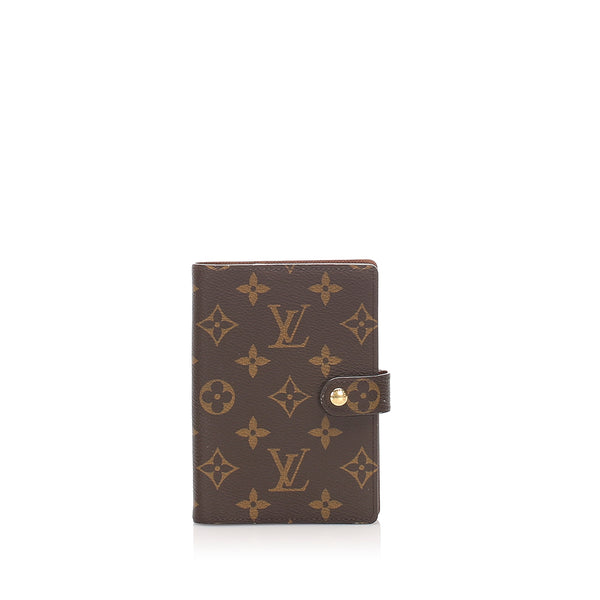 Brown Louis Vuitton Monogram Agenda PM