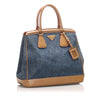 Blue Prada Denim Handbag Bag