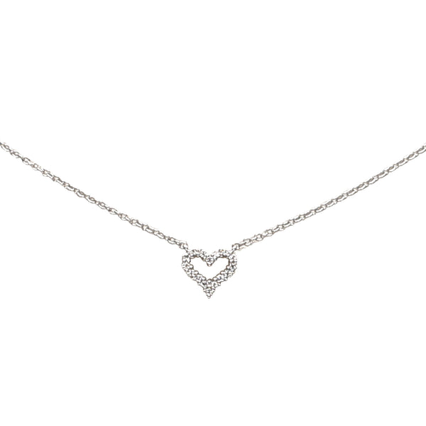 Silver Tiffany Sentimental Heart Necklace