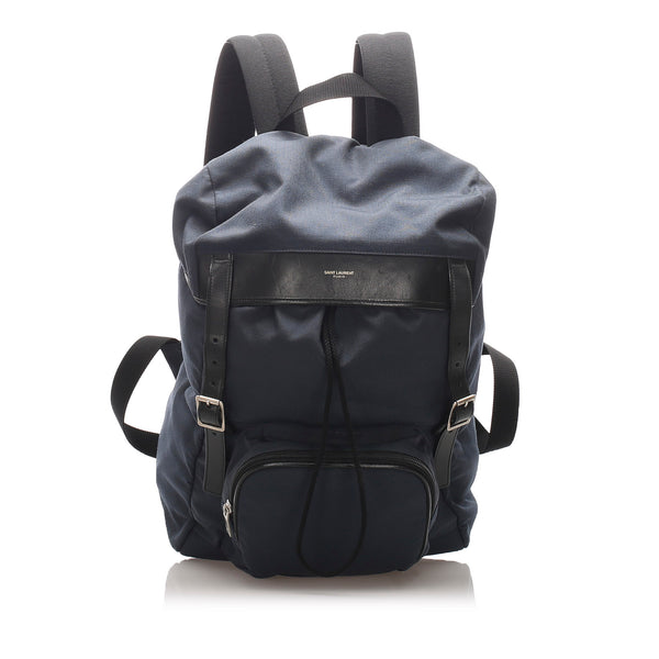 Blue YSL Utilitarian Hunting Canvas Backpack Bag