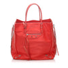 Red Balenciaga Papier A4 Leather Zip-Around Tote Bag