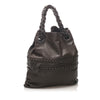 Black Bottega Veneta Studded Intrecciato Leather Tote Bag