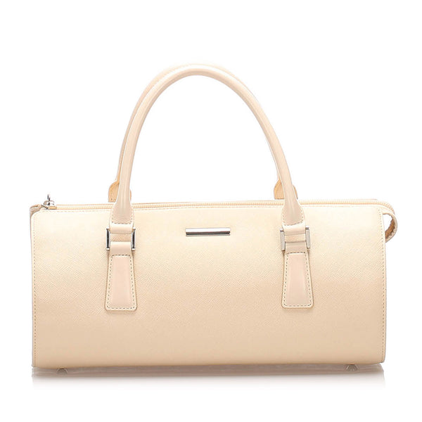 Beige Burberry Leather Handbag Bag