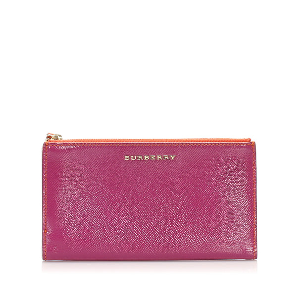 Pink Burberry Leather Pouch