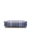Blue Burberry Haymarket Check Leather Pouch