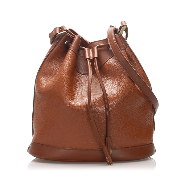 Brown Burberry Leather Bucket Bag
