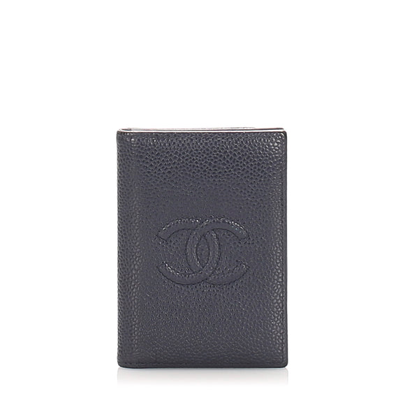 Black Chanel CC Caviar Card Holder