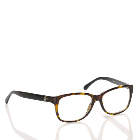 Brown Chanel Tortoiseshell Square Optical Frame