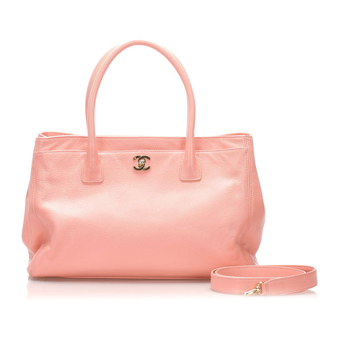 Pink Chanel Caviar Leather Executive Cerf Tote Bag
