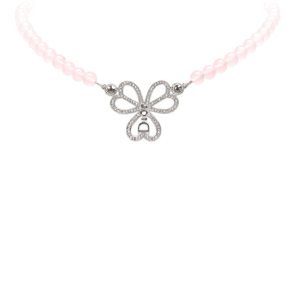 Pink Dior Rose Quartz Necklace