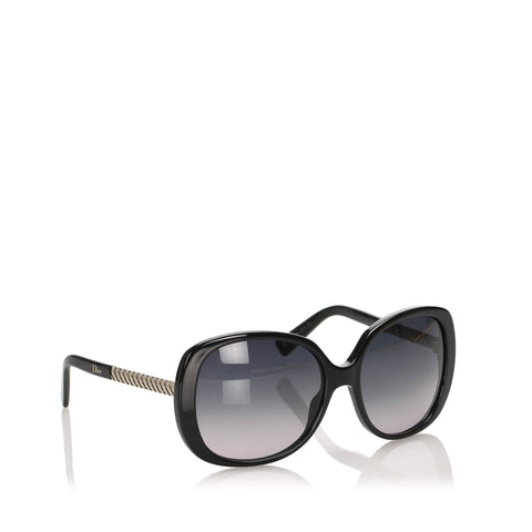 Black Dior Round Tinted Sunglasses