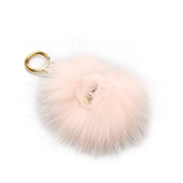 White Fendi Monster Fur Charm