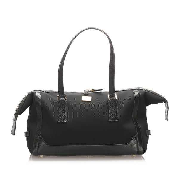 Black Ferragamo Canvas Handbag Bag