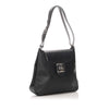 Black Ferragamo Vara Leather Shoulder Bag