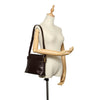 Black Ferragamo Vara Embossed Leather Shoulder Bag