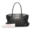 Black Ferragamo Gancini Leather Tote Bag