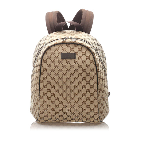 Brown Gucci GG Canvas Backpack Bag