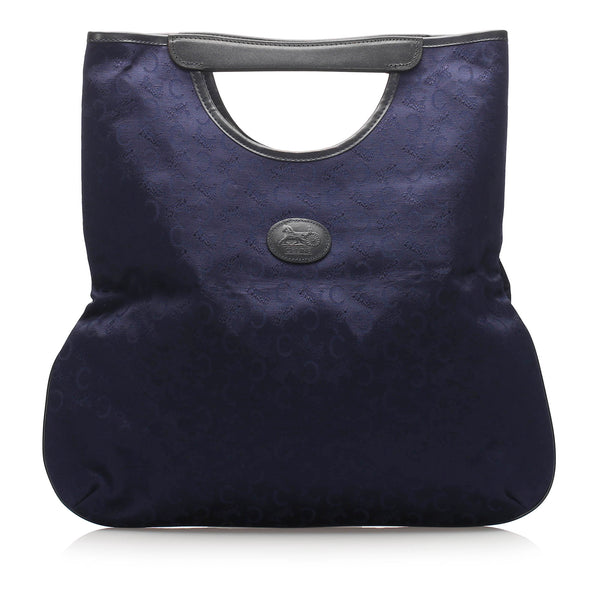 Blue Celine C Macadam Canvas Tote Bag